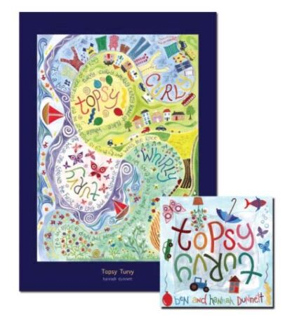 Ben and Hannah Dunnett Topsy Turvy poster and CD US version