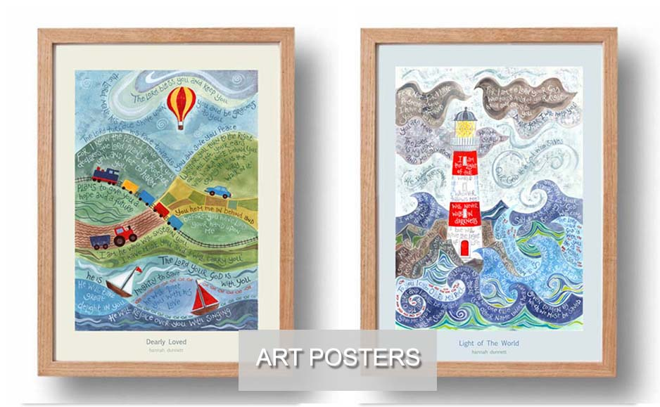 Ben and Hannah Dunnett art posters USA home page slider image