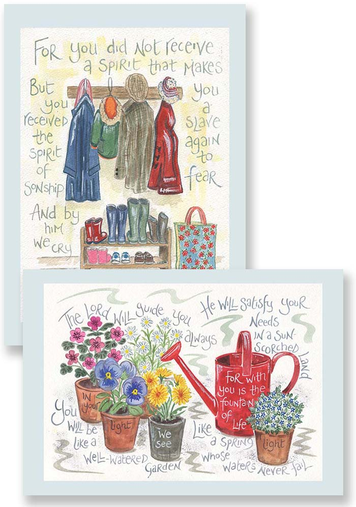 Hannah Dunnett Abba Father and Fountain of Life Notecards updated USA version