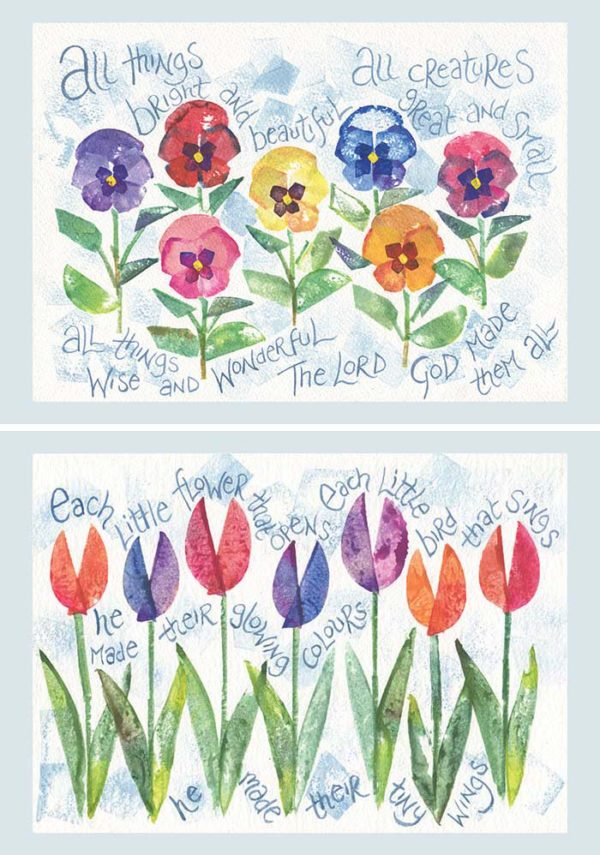Hannah Dunnett All Things Bright and Each Little Flower Notecards USA version