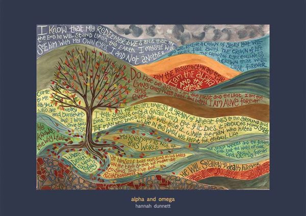 Hannah Dunnett Alpha and Omega greetings card US version
