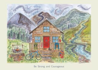 Hannah Dunnett Be Strong and Courageous card USA version