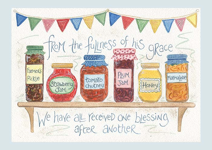 Hannah Dunnett Blessings notecard US version