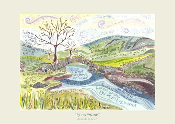 Hannah Dunnett By His Wounds new greetings card US version