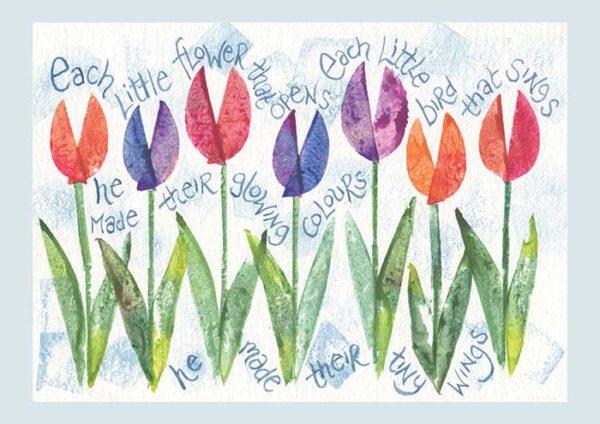 Hannah Dunnett Each Little Flower notecard US version