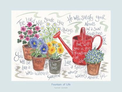 Hannah Dunnett Fountain of Life USA 12 x 9 poster