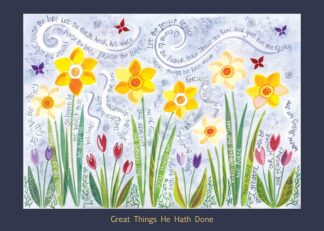 Hannah Dunnett Great Things He Hath Done card USA version