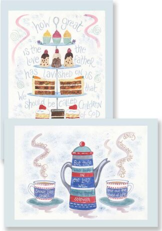 Hannah Dunnett His Great Love and Encourage One Another Notecards updated USA version