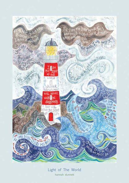 Hannah Dunnett Light of the World greetings card US version