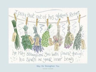 Hannah Dunnett May He Strengthen You USA 12 x 9 poster