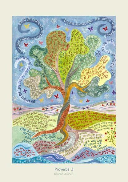 Hannah Dunnett Proverbs 3 greetings card US version