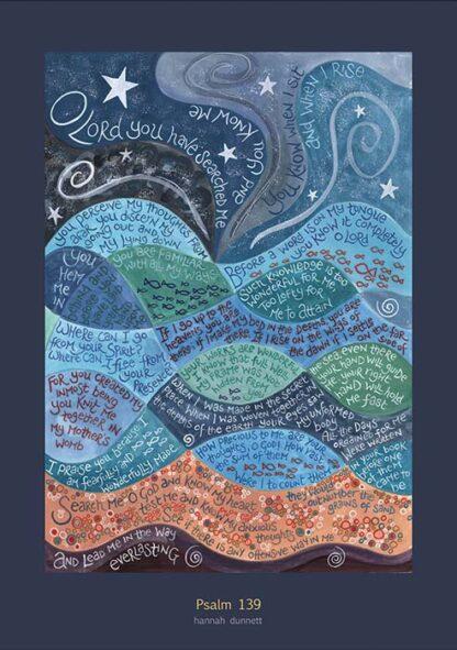 Hannah Dunnett Psalm 139 greetings card US version