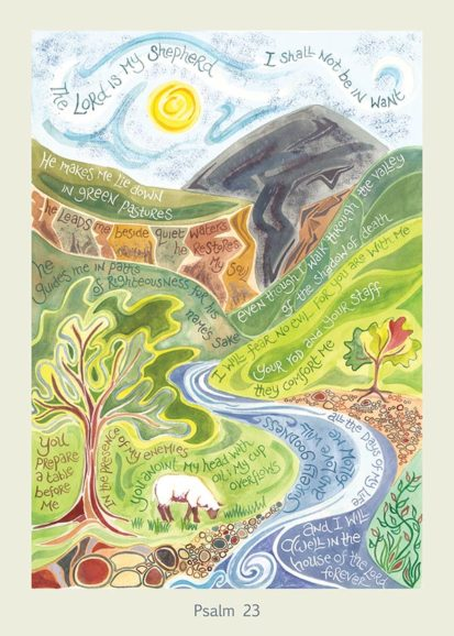 Hannah Dunnett Psalm 23 card USA version