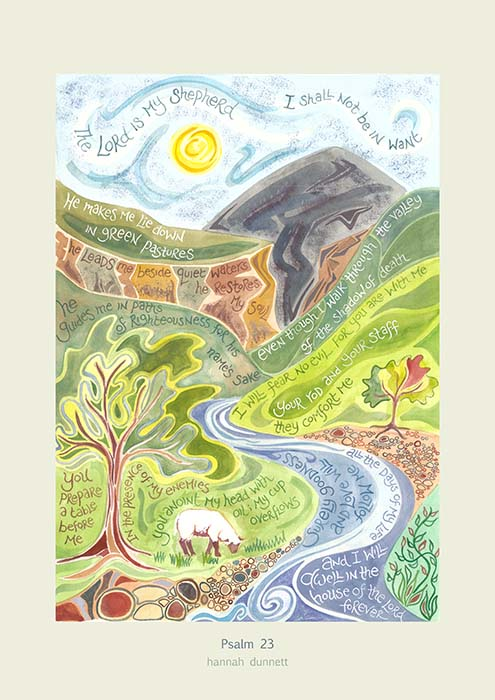 Hannah Dunnett Psalm 23 greetings card US version