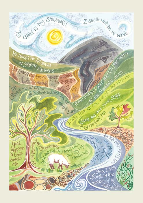 Hannah Dunnett Psalm 23 notecard US version