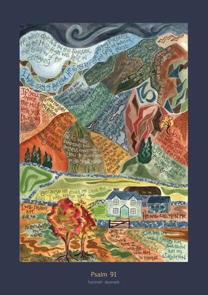 Hannah Dunnett Psalm 91 greetings card US version