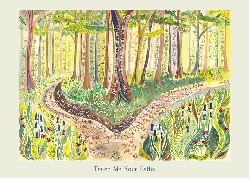 Hannah Dunnett Teach Me Your Paths card USA version