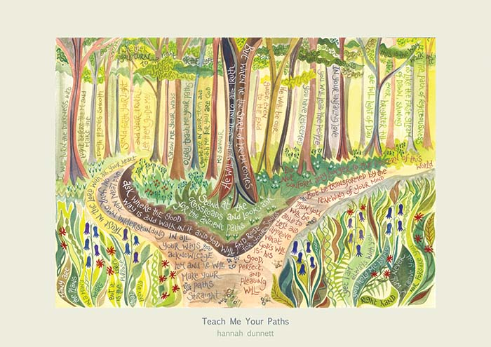 Hannah Dunnett Teach Me Your Paths greetings card US version