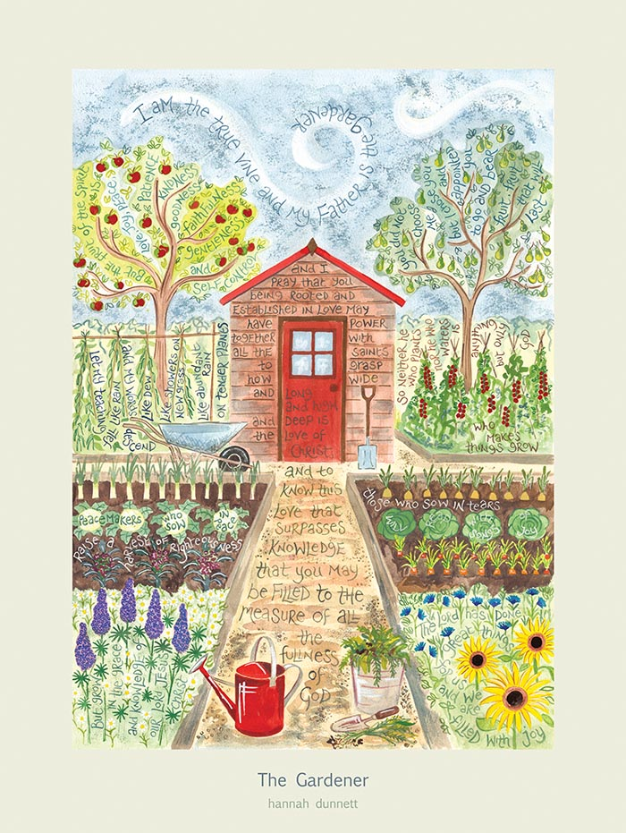 Hannah Dunnett The Gardener USA 16x12 poster