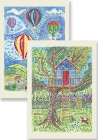 Hannah Dunnett The Lord is My Strength and Give Thanks To The Lord Notecards updated USA version