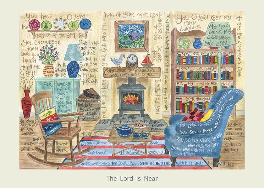 Hannah Dunnett The Lord is Near card USA version