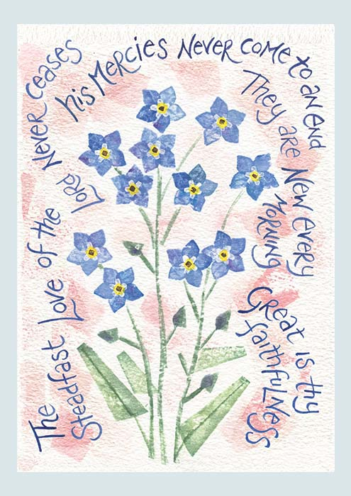 Hannah Dunnett The Steadfast Love notecard US version
