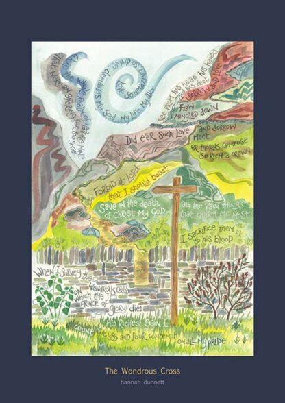 Hannah Dunnett The Wondrous Cross greetings card US version
