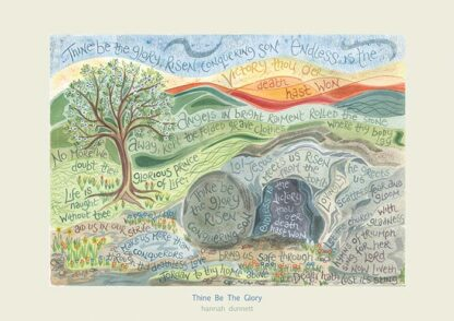 Hannah Dunnett Thine be the glory greetings card US version