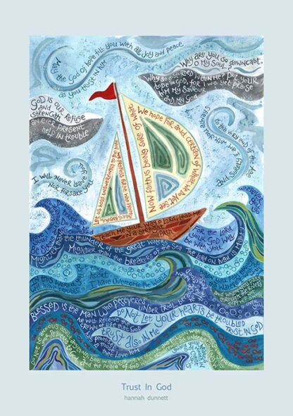 Hannah Dunnett Trust in God greetings card US version