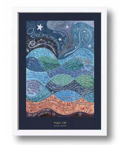 Hannah Dunnett psalm 139 US version Poster white frame