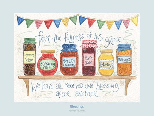 Hannah Dunnett Blessings USA 12 x 9 poster