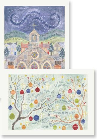 Hannah Dunnett Ding Dong and Hark the Herald Christmas card pack