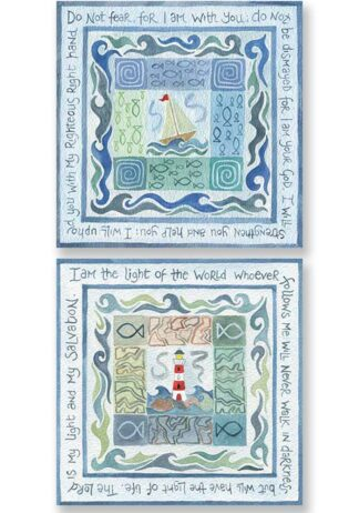 Hannah Dunnett Do Not Fear and My Light and My Salvation Notecards USA version