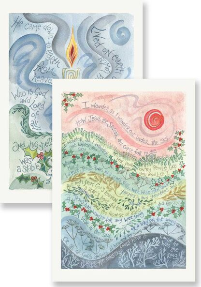 Hannah Dunnett He came down and I wonder Christmas card pack