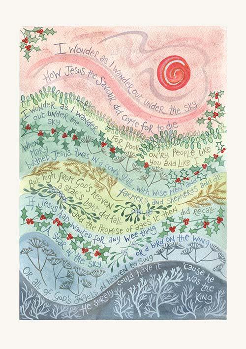 Christian Christmas Cards.I Wonder As I Wander