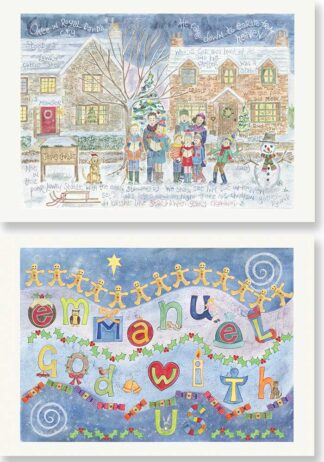 Hannah Dunnett Once in Royal and Emmanuel Christmas card pack