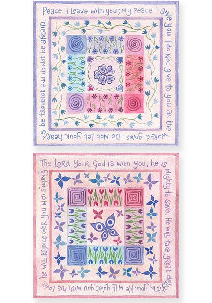 Hannah Dunnett Peace I Leave With You and He Will Rejoice Over You Notecards USA version
