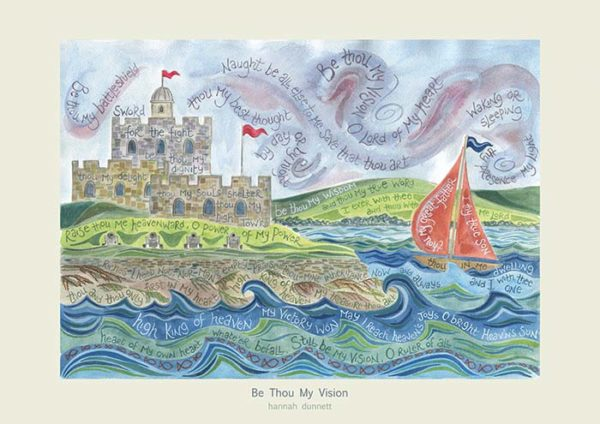 Hannah Dunnett Be Thou My Vision greetings card US version
