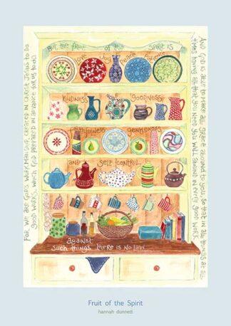 Hannah Dunnett Fruit of the Spirit greetings card USA version