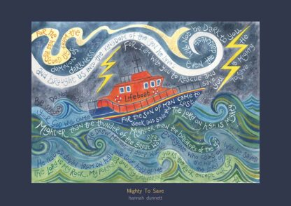 Hannah Dunnett Mighty To Save greetings card US version