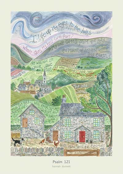 Hannah Dunnett Psalm 121 greetings card US version