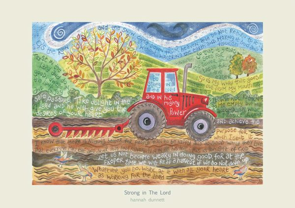 Hannah Dunnett Strong in The Lord greetings card US version