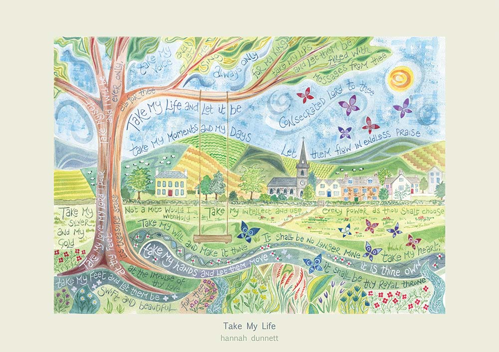 Hannah Dunnett Take My Life greetings card US version