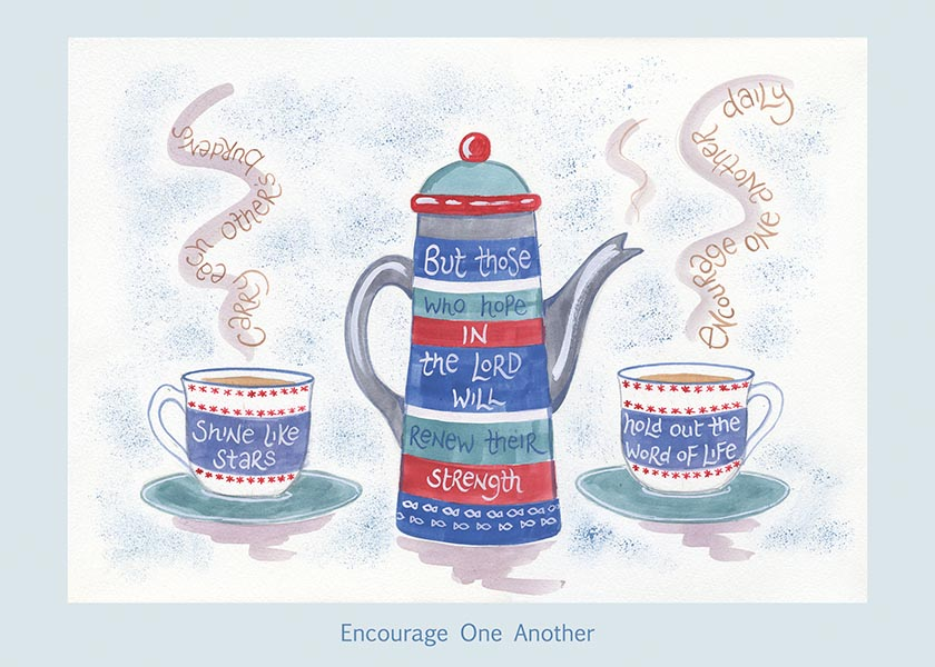 Hannah Dunnett Encourage One Another card USA version