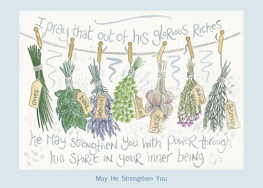 Hannah Dunnett May He Strengthen You card USA version