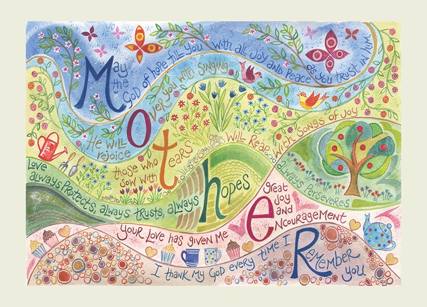 Hannah Dunnett Mothers Day USA greetings card