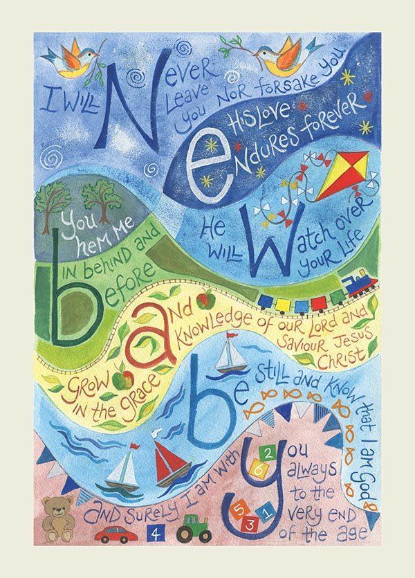 Hannah Dunnett New Baby Blue version USA greetings card