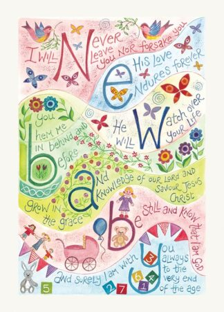 Hannah Dunnett New Baby Pink version USA greetings card