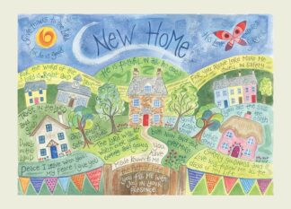 Hannah Dunnett New Home USA greetings card