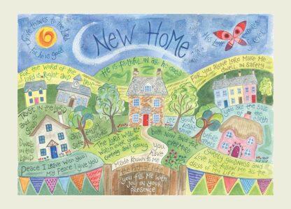 Hannah Dunnett New Home USA greetings card